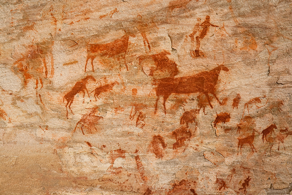 Paper links ancient drawings and language's origins